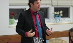 "<p style=""text-align: center;"">Fellow Podium member-Paul Harrison-giving his Table Topics speech</p>"