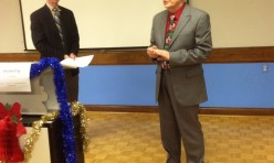 "<p style=""text-align: center;"">Gord Wilson-sharing his thoughts on Podium Toastmasters</p>"